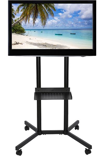 Mobiler TV-Ständer auf Rollen