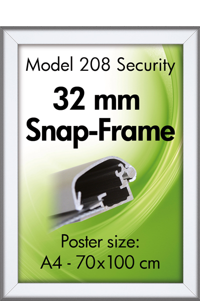 Security FrameWand, 32 mm, Silbereloxiert