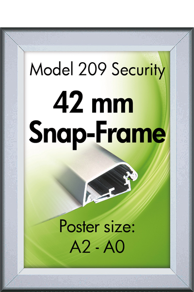 Security Frame, Wand, 42 mm Profil