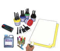 Schilderfarbe und Papier