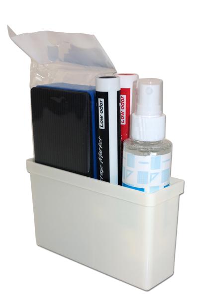 Weißer Kunststoffhalter zum Anhängen mittels Magnet