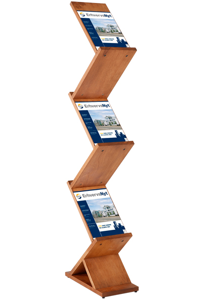 Wooden Brochureholder Zig Zag
