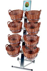 Shop Display with 8 round baskets