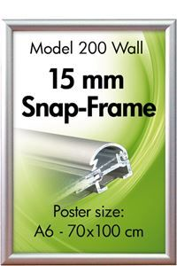 Alu Snap-Frame, Wand, 15 mm Profil