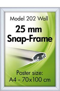 Alu Snap-Frame Wand, 25 mm Profil