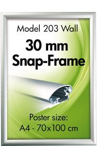 Alu Snap-Frame, Wand, 30 mm Profil