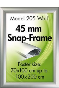 Alu Snap-Frames, Wand, 45 mm Profil