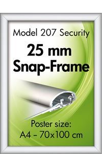 Security Frame Wand, 25 mm Profil