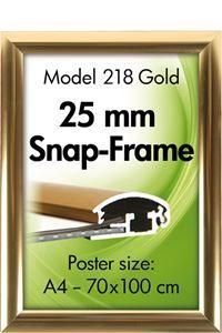 Alu Snap-Frame, Wand, 25 mm, goldeloxiert, glänzend