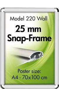 Alu Snap-Frame. Rondo. 25 mm Klapprahmen, Silbereloxiert