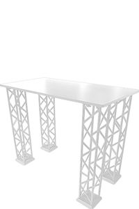 Crown Truss Counter Rectangle - White