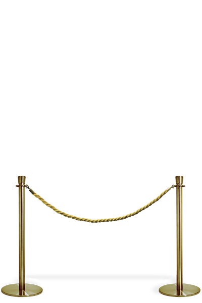 Crowd Controle Rope - Gold Personenleitsystem