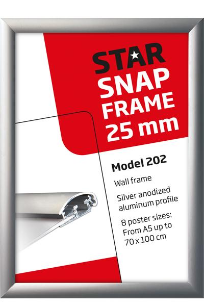 Alu Snap-Frame Wand, 25 mm Profil