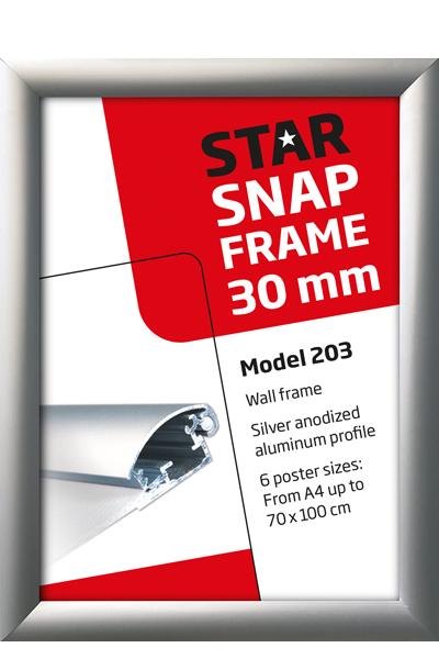 Alu Snap-Frame, Wand, 30 mm Profil