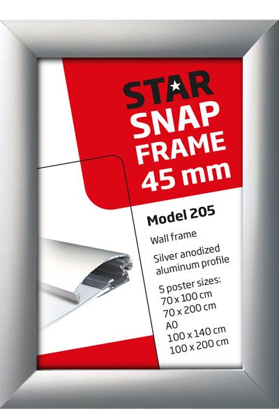 Alu Snap-Frames, Wand, 45 mm Profil