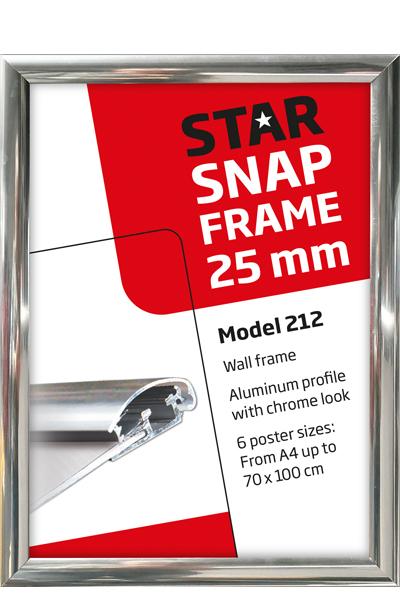 Alu Snap-Frame, 25mm, Chrom