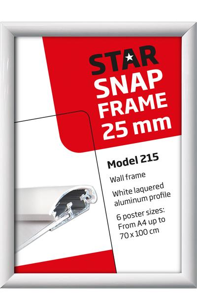 Alu Snap-Frame Wand, 25 mm, Weiss