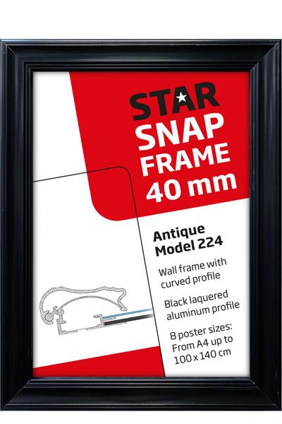 Alu Snap-Frame RondoWand, 32 mm, silbereloxiert