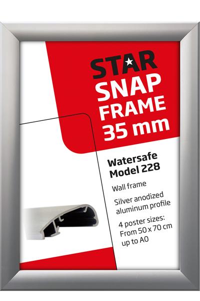 Alu Snap-Frame WatersafeWand, 35 mm, Silber