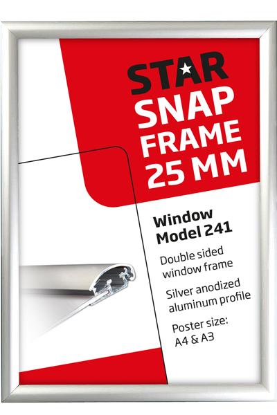 Doppelseitiger Fensterrahmen, 25 mm