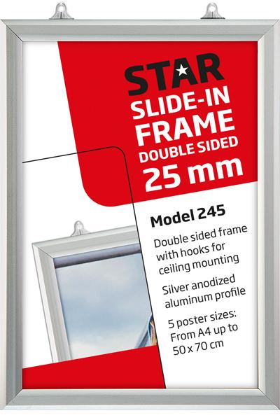 Slide-In Frame, Vertical, 25mm