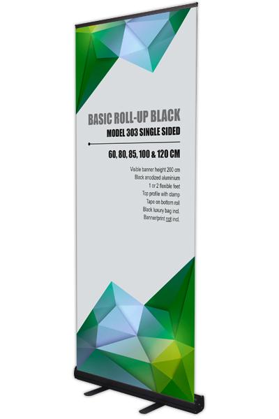 Basic Roll-Up, schwarz, einseitig