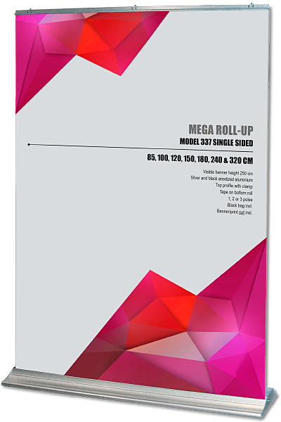 Mega Roll-up, einseitig