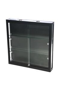 Showcase Wall, Duo - black, Wandvitrine Duo schwarz