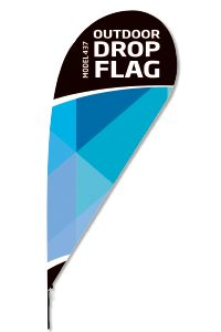Outdoor Drop Flag Beach Flag Tropfenform