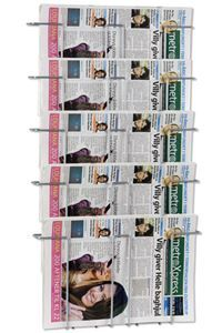 Newspaper Wall 5 Wand-Zeitungshalter