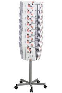 Mobile 32 Brochure Stand fahrbarer Prospektständer