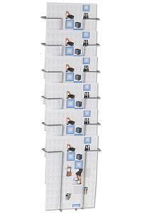 Wall 6 Brochureholder Wand-Prospekthalter