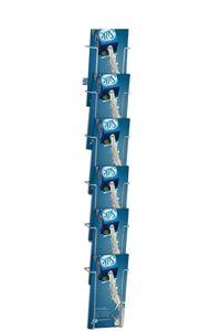 Wireholder Wall 6xM65 Wand-Prospekthalter