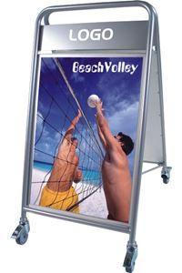 Expo Sign Lux Straßenständer mit Logoplatte