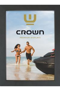 CROWN Snap-Frame,schwarz, Wand, 33 mm