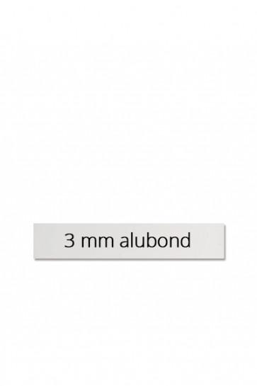 Logoplatte 60x10 cm für Estate Sign Twin 65x101cm. Dibond Platte