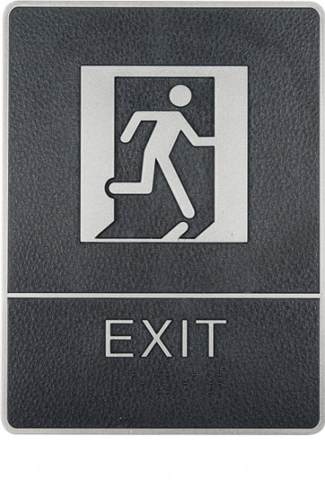 Icon Sign with Text - Exit