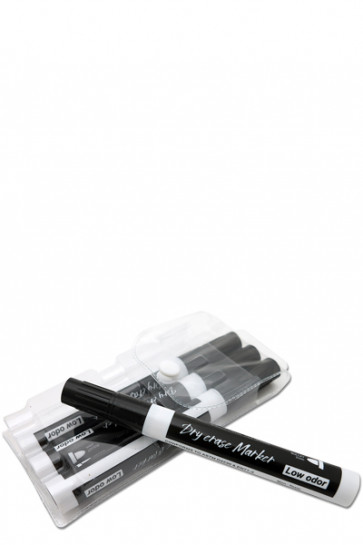 Whiteboard Marker - 4 Stück Schwarz