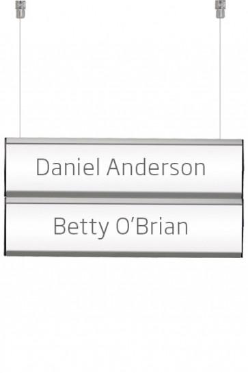 Ceiling Info System, double. 2 Reihen 7,4x50cm