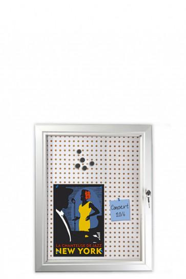 INFOBOX Combi m/Verschluß 45mm 4xA4 Alu