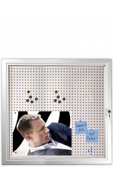 INFOBOX Combi m/Verschluß 45mm 12xA4 Alu