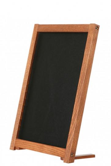 Wooden Table Board with Feet. Dark wood. 12,7x17,8cm