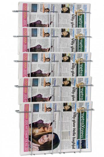 News Paper Wall 5 Silber