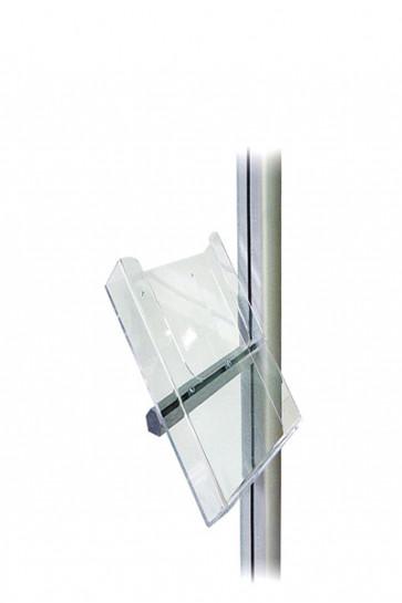 MULTISTAND Acryl Prospekthalter mit Alu Beschlag, M65