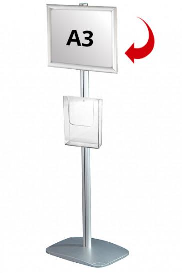 Mini Multistand 3 - Einseitig  A3 Snap Frame + A4 Prospekthalter