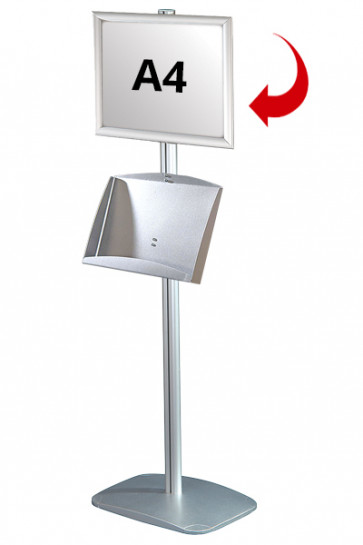 Mini Multistand 5 - Einseitig  A4 Snap Frame + A3 Prospekthalter aus Stahl