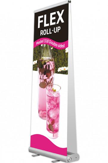 Flex Roll-up, Doppeltseitig. 90x107-237cm alu