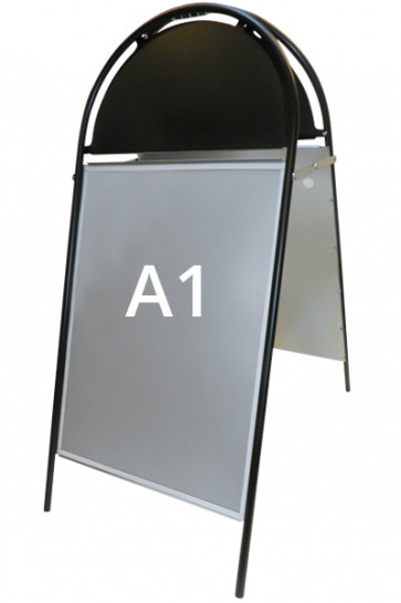 GOTIK Budget Straßenständer 59,4x84,1cm   A1 schwarz