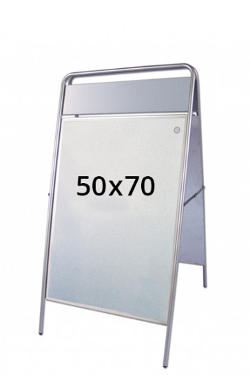 EXPO SIGN Kundenstopper 22mm 50x70cm OT Silber