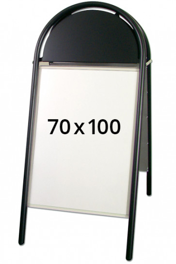 EXPO GOTIK LUX Kundenstopper 32mm 70x100cm Schwarz